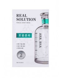 MISSHA REAL SOLUTION TENCEL SHEETMASK (PORE CONTROL)AHA, BHA