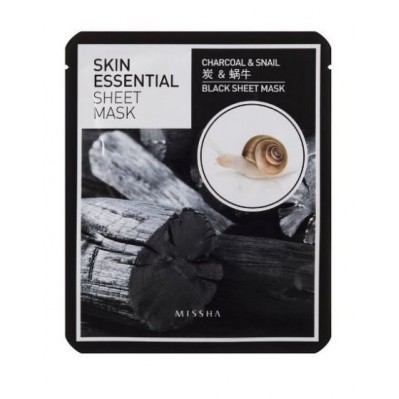 Skin Essential Sheet Mask_Charcoal & Snail