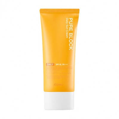 PURE BLOCK NATURAL DAILY SUN CREAM SPF45/PA+++ (Large Volume)
