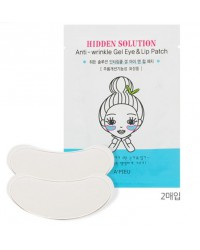 A'PIEU HIDDEN SOLUTION ANTI-WRINKLE GEL EYE & LIP PATCH