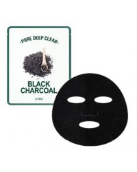A'PIEU PORE DEEP CLEAR BLACK CHARCOAL MUD MASK