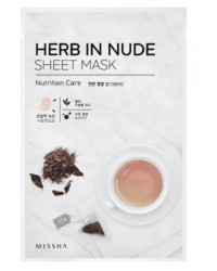 Herb In Nude Sheet Mask (Nutrition Care)