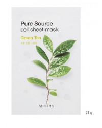 MISSHA PURE SOURCE CELL SHEET MASK (GREEN TEA)