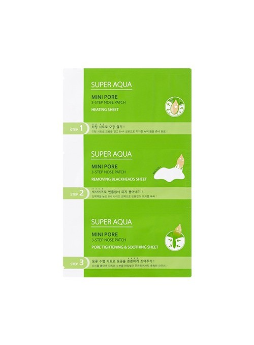 Super Aqua Mini Pore 3Step Nose Patch