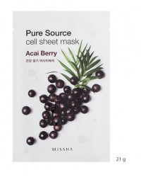 MISSHA PURE SOURCE CELL SHEET MASK (ACAI BERRY)