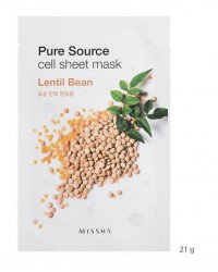 MISSHA PURE SOURCE CELL SHEET MASK (LENTIL BEAN)