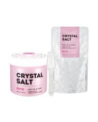 Crystal Salt Body Oil Scrub (Rose)
