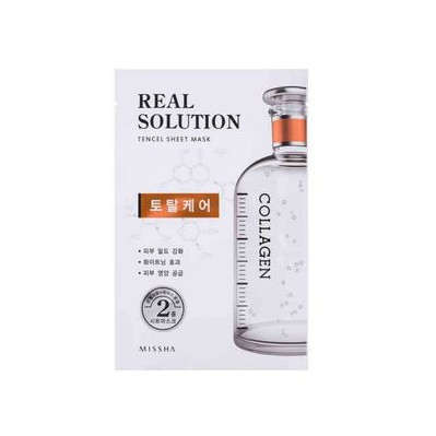 MISSHA REAL SOLUTION TENCEL SHEETMASK (TOTAL CARE) COLLAGEN
