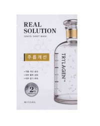 MISSHA REAL SOLUTION TENCEL SHEET MASK (WRINKLE CARE) TRYLAGEN