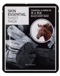 Skin Essential Sheet Mask_Charcoal & Horse Oil