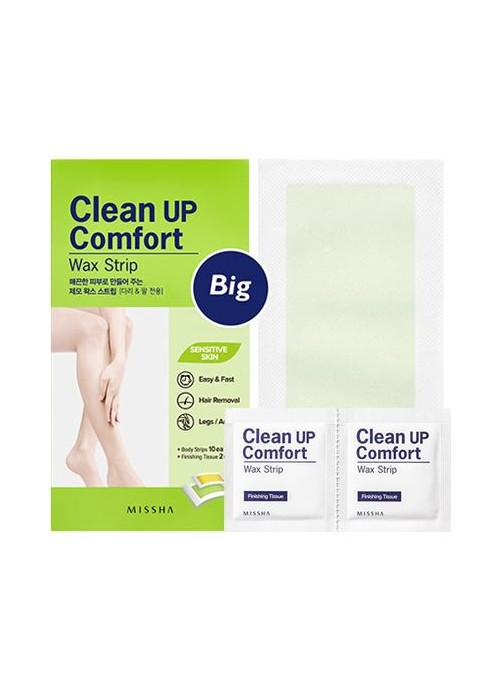 Clean Up Comfort Wax Strip Big