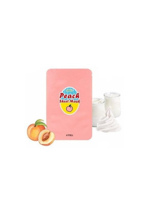 YOGURT AND PEACH SHEET MASK
