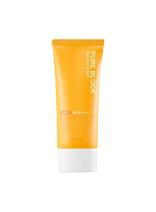 PURE BLOCK NATURAL DAILY SUN CREAM SPF 45 PA+++ (LARGE VOLUME)