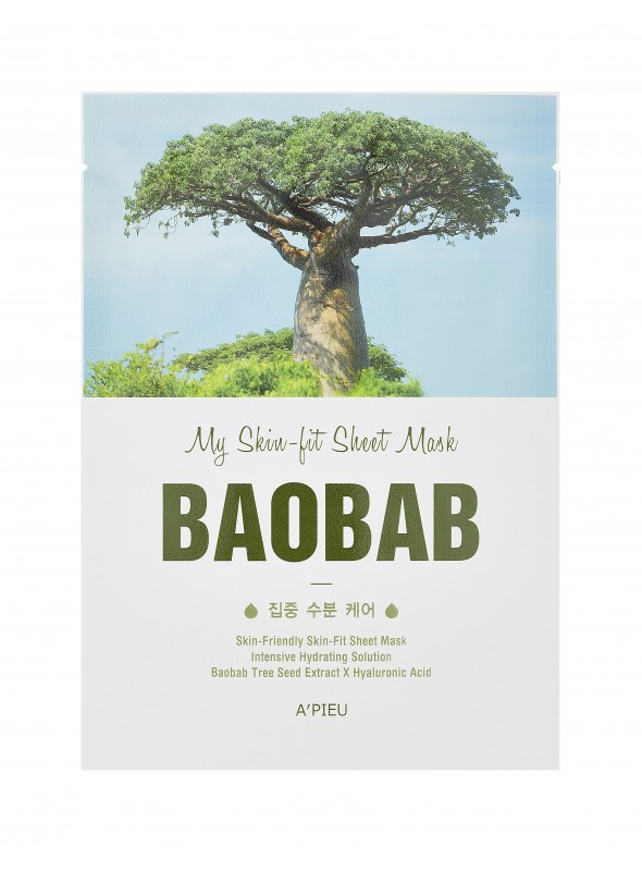 A'PIEU SKIN FIT SHEET MASK - BAOBAB TREE
